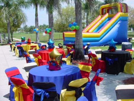 Boca raton party rental party rental decorations for Hollywood mansion party rental